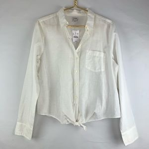 J Crew Factory white buttons down NWT, Large